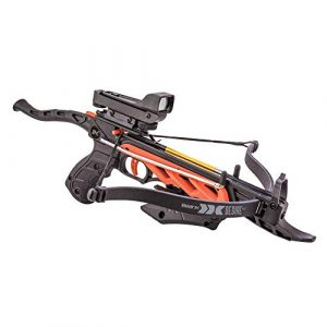 Bear X Crossbow 1 Bear X Desire RD Self-Cocking Pistol Crossbow with Red Dot Sight 3 Premium Bolts, Black, One Size