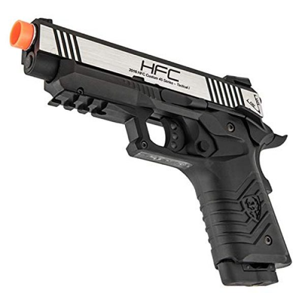 HFC Airsoft Pistol 3 HFC HG-171 Tactical 1911 CO2 Blowback Airsoft Pistol Black Silver