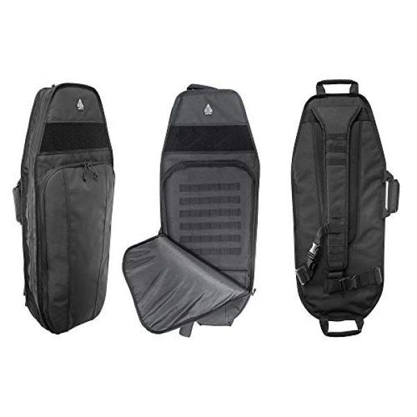 "UTG Tactical Backpack 2 UTG 34"" Alpha Battle Carrier Rapid Deployment Pack, Black (PVC-PSP34B)"