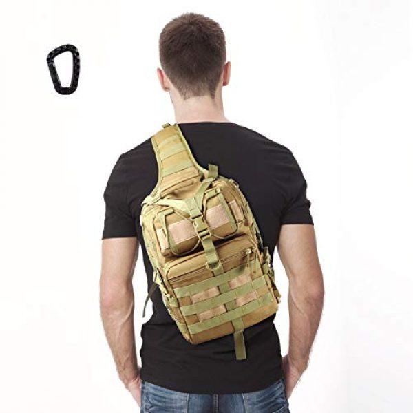FUNANASUN Tactical Backpack 7 FUNANASUN Tactical Sling Backpack Bag Military Molle Assault Pack Rucksack Daypack for Outdoors Camping Hiking Hunting
