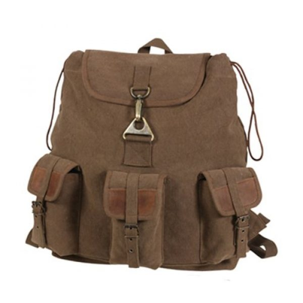 Rothco Tactical Backpack 1 Rothco Vintage Wayfarer Backpack With Leather Accents