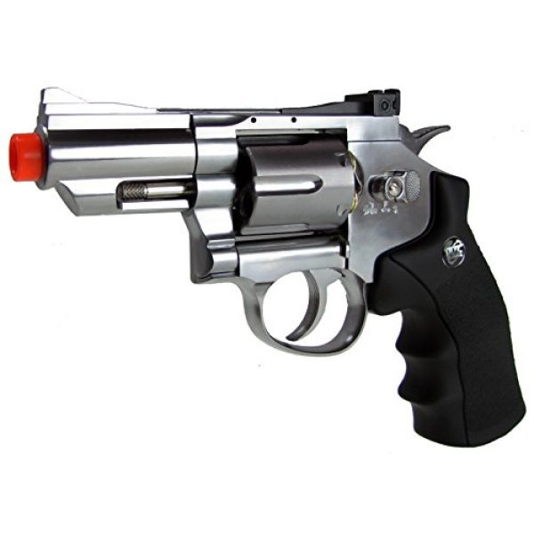 WG Airsoft Pistol 2 WG model-708s 2 revolver full metal co2 non-blowback/silver included 4 revolver holster-nylon(Airsoft Gun)