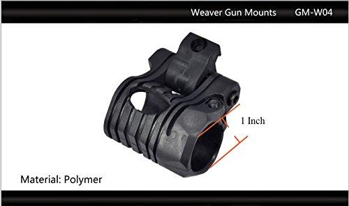 "Tactical Scorpion Gear Rifle Scope 2 Tactical Scorpion Gear TSG-GMW04 Pivoting Weaver Scope Flashlight Mount 26mm 1""- Black"