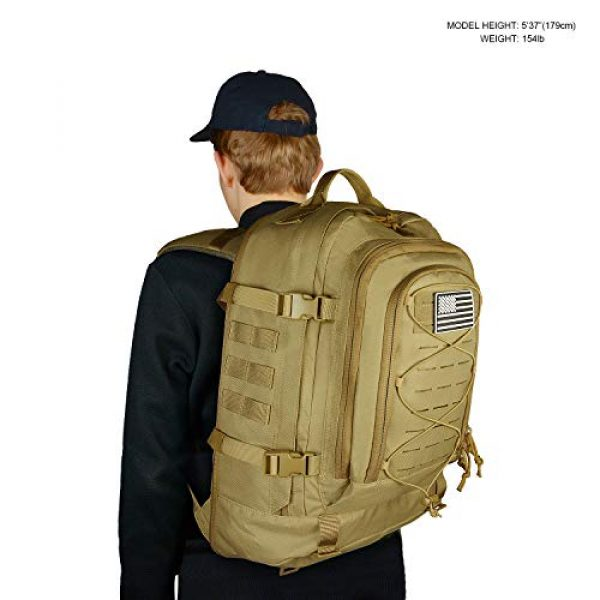 SunsionPro Tactical Backpack 6 SunsionPro MTB-236 Laser Molle Expandable Tactical Backpack for Traveling, Camping, Trekking & Hiking, 42-62L
