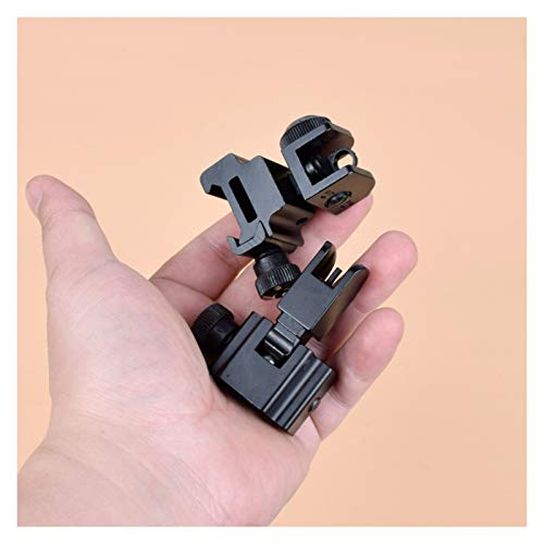 Without Rifle Scope 6 Toy Gun Sight Red dot Sight Magnification 1 Pair of BUIS Front and Rear Sights can be Flipped Quick-Change Iron Sights, Shotgun Accessories (Color : Black)