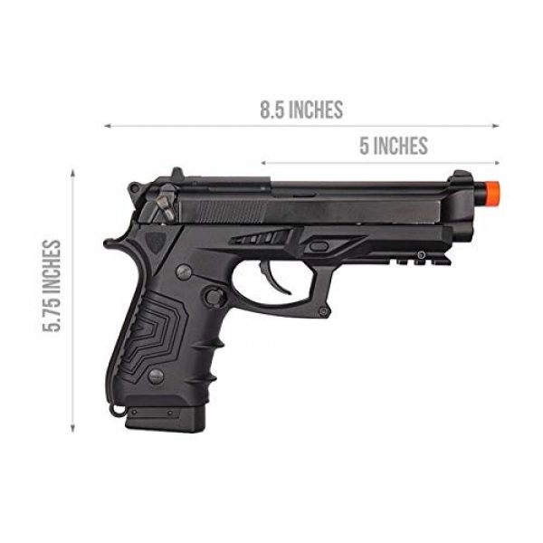 HFC Airsoft Pistol 5 HFC HG-173 M92 CO2 Blowback Airsoft 1911 Tactical Pistol Full/Semi Automatic Black with Gun Case