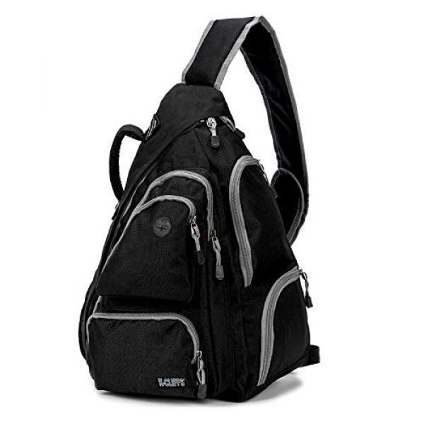 K-Cliffs Tactical Backpack 6 K-Cliffs Heavy Duty Sling Backpack Water-Resistant Laptop Bookbag Body Bag Bright Color Safety Reflective Stipe