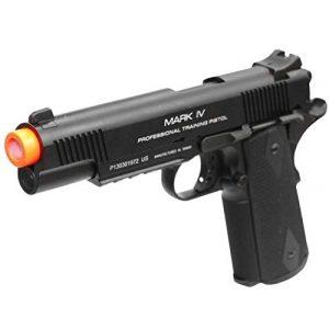 KWA Airsoft Pistol 1 KWA 1911 MK IV PTP 6mm Gas Blowback 21rd Airsoft Gun, Black