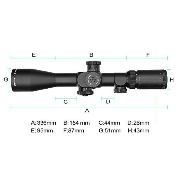 ohhunt Rifle Scope 2 ohhunt FFP Rifle Scopes 4-14X44 SFIR First Focal Plane Side Parallax Glass Etched Reticle RG Illuminated Hunting Scope