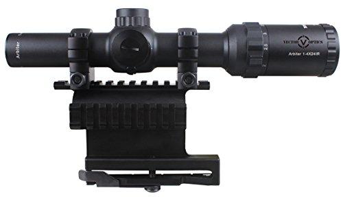 Vector Optics Rifle Scope 2 Vector Optics Arbiter 1-4x24mm 1/2 MOA Compact Tactical Riflescope and Side Picatinny Rail QD Mount Combo (Matte Black)