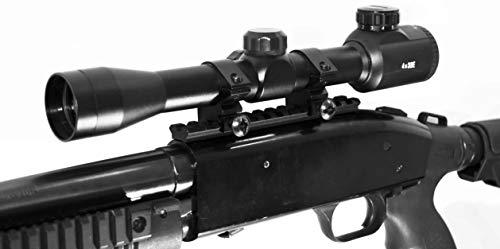 TRINITY Rifle Scope 1 TRINITY SUPPLY Mossberg 500/590/835 Picatinny Weaver Scope Base Rail Mount with Reflex Sight Base Mount Rail Adapter Aluminum Black Hunting Optics Tactical Home Defense Accessory.