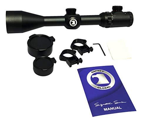 Osprey Global Rifle Scope 4 Osprey Global 10-40x50 Illuminated Mil-Dot Glass Reticle 30mm-Tube TA Riflescope, Matte Black (10-40x 50mm)