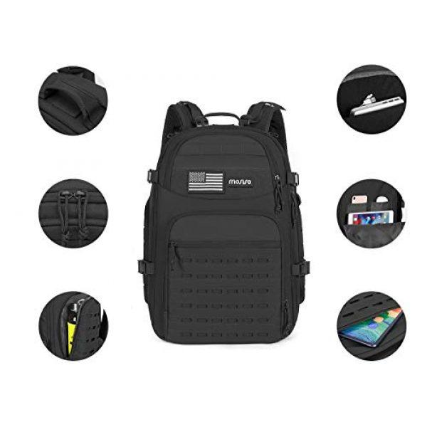 MOSISO Tactical Backpack 2 MOSISO Tactical Backpack, 3 Day Molle Rucksack Hiking Daypack Men Shoulder Bag