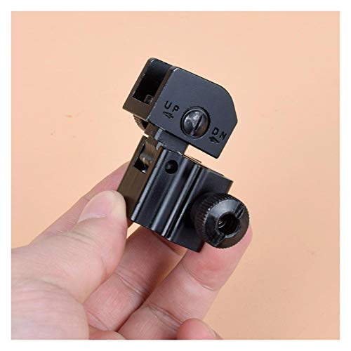 Without Rifle Scope 5 Toy Gun Sight Red dot Sight Magnification 1 Pair of BUIS Front and Rear Sights can be Flipped Quick-Change Iron Sights, Shotgun Accessories (Color : Black)