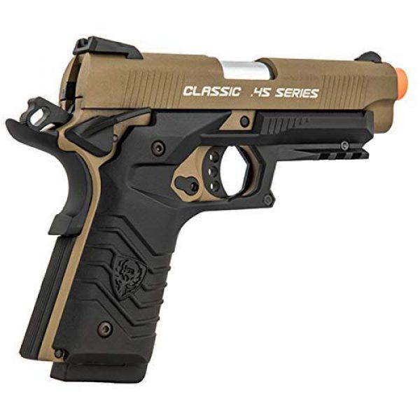 HFC Airsoft Pistol 6 HFC Honor Fantastic 1911 Gas Blowback Airsoft Pistol TAN Black