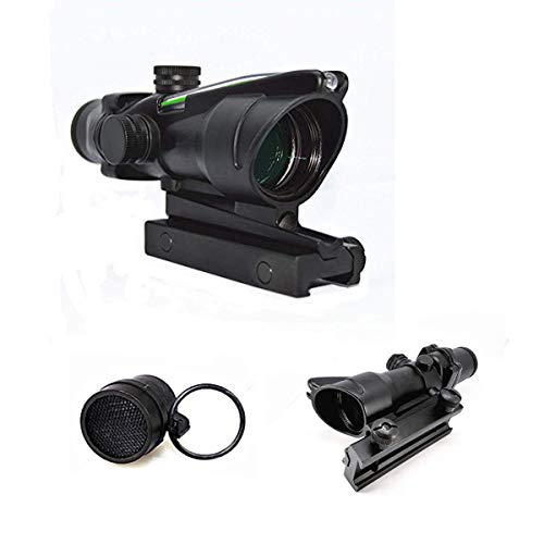 Haoyipu Rifle Scope 1 HYP 4x32 Scope Hunting Scopes Red or Green Chevron Glass Etched Reticle Real Fiber Optics Tactical Optical Sights Scope