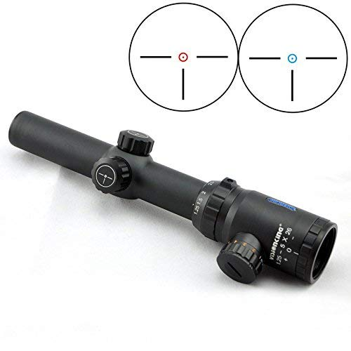 Visionking Rifle Scope 2 Visionking 1.25-5x26 Rifle Scope with Picatinny Rings