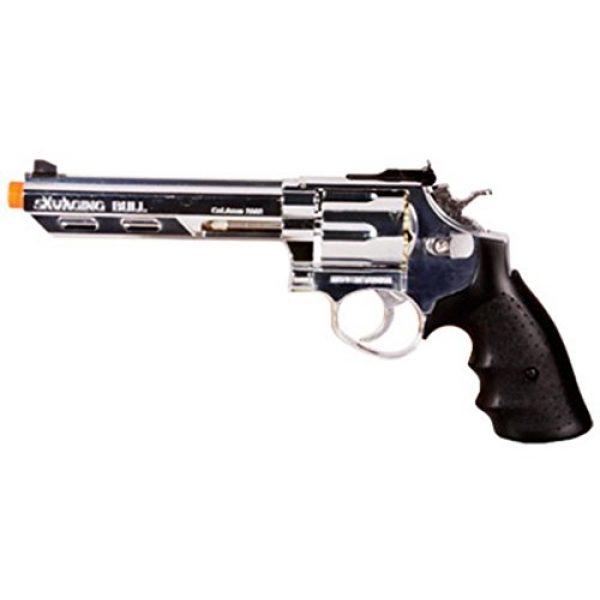 HFC Airsoft Pistol 1 HFC hg-133 6 barrel gas revolver, silver airsoft gun(Airsoft Gun)