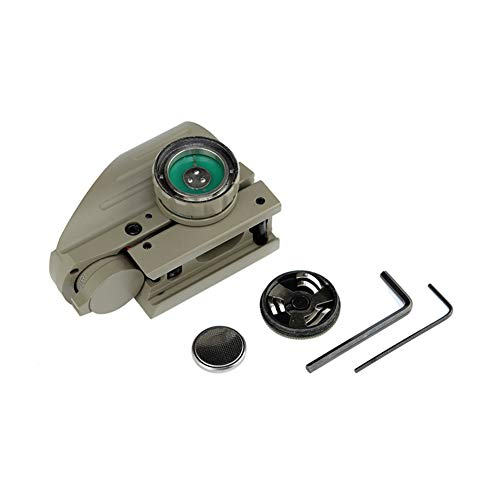 DJym Rifle Scope 3 DJym Sand Color Red and Green Dot Reflex Sight Scope with Broad Gauge Electrodeless Used for Hunting Rifle Scope