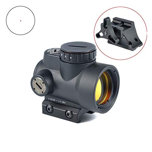 Without Rifle Scope 2 Toy Gun Sight Red dot Sight Magnification Red Dot Sight Scope 1X25 MRO Style 2.0 MOA Adjustable Scope with Low/High Mount (Color : Tan Color)