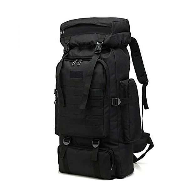 Suny Smiling Tactical Backpack 2 Suny Smiling Tactical Military Molle Backpack-High Capacity 80L Oxford Outdoor Camouflage Tactical Hiking/Camping/Hunting/Trekking/Climbing Waterproof Backpack for Men#7434