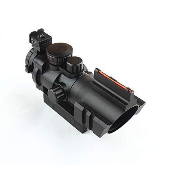 HONESTILL Rifle Scope 1 HONESTILL 4x32 Tactical Rifle Scope Red Dot Sight 20mm Dovetail Reflex Optics Scope with Fiber Optic Sight