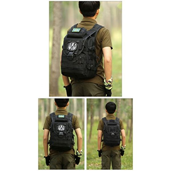 Huntvp Tactical Backpack 5 Huntvp 40L Military Tactical Backpack MOLLE Assault Daypack Rucksack WR