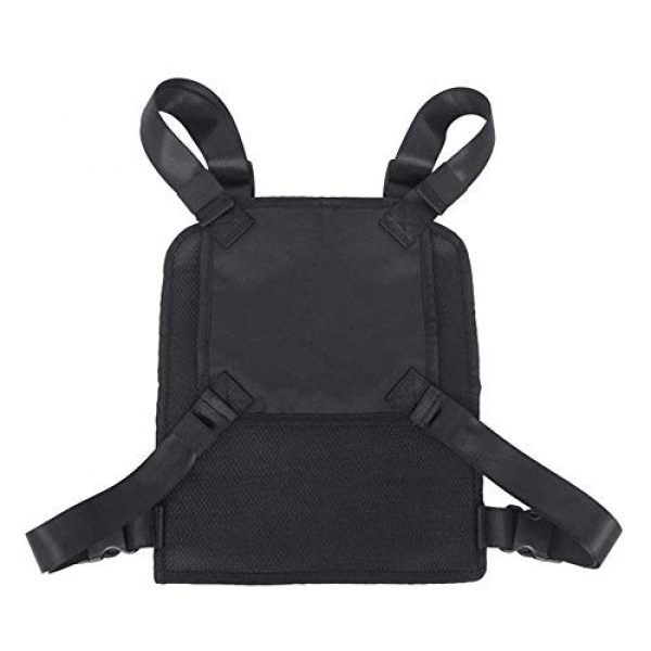 JFFCE Tactical Backpack 4 Tactical Chest Bag Pouch MOLLE Chest Panel Harness Multipurpose EDC Carry Pouch Tactical Chest Rig Black