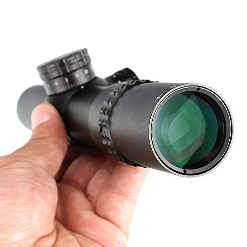 WINFREE Rifle Scope 4 WINFREE 4.5x24 Rifle Scope 30mm Tube Second Focal Plane Tactical Optics Sight 1/2 Half Mil Dot Reticle Turrets Reset Riflescope