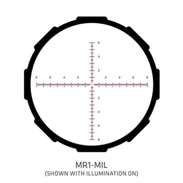 Crimson Trace Rifle Scope 5 Crimson Trace Optics Tactical Riflescope 5-25x56mm Mil/FFP with MR1-Mil with Illuminated Reticle, 3 Series CTL-3525