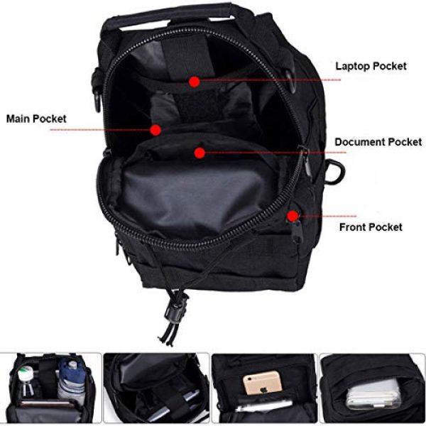 hopopower Tactical Backpack 4 Hopopower Tactical Sling Bag Pack Crossbody Shoulder Backpack Sport Daypack for Men