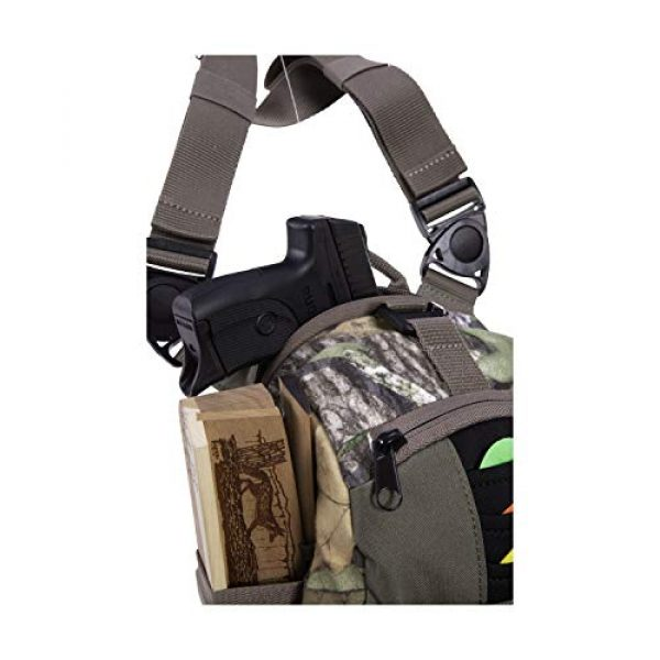 Allen Company Tactical Backpack 4 Allen Company Shocker Cut-N-Run Turkey Hunting Pack - 3in1 Functionality: Thigh Pack, Sling Pack, Chest Pack - Multi Functional -9 Features, Camo 19170 One Size