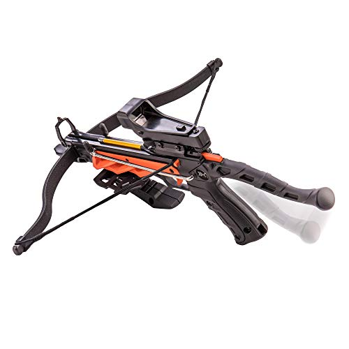 Bear X Crossbow 3 Bear X Desire RD Self-Cocking Pistol Crossbow with Red Dot Sight 3 Premium Bolts, Black, One Size