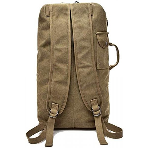 MilSurplus Tactical Backpack 6 Multifunctional Military Tactical Style Canvas Backpack, Outdoor Sports Gym Bag, Men Hiking Camping Backpack