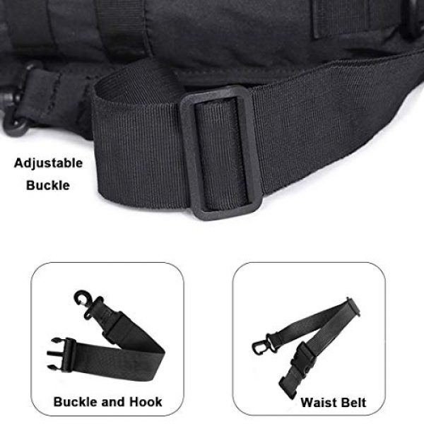 HAOMUK Tactical Backpack 6 Tactical Sling Bag Pack Military Rover Shoulder Sling Backpack EDC Molle Assault Range Bag