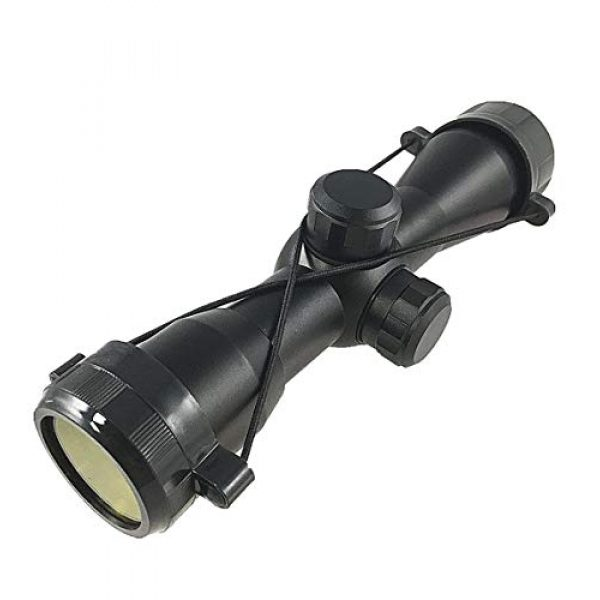 DB TAC INC Rifle Scope 5 DB TAC 4x32 Anodize Black Color Mil-dot Reticle Slug Scope Picatinny Weaver Mounted Aluminum Hunting Optics Accessory.