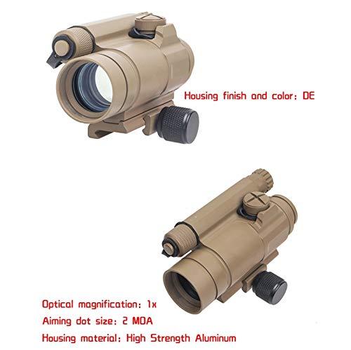 UELEGANS Rifle Scope 4 UELEGANS Red Dot Sight, M2 Hunting Riflescope Sight Red Green Dot Rifle Scope Riflescope for 20mm Rail