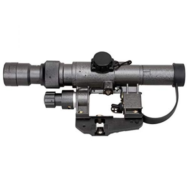 Vector Optics Rifle Scope 2 Vector Optics SVD Dragunov 3-9x24mm First Focal Plane (FFP) Tactical Riflescope with Red Illuminated Rangefinding Reticle