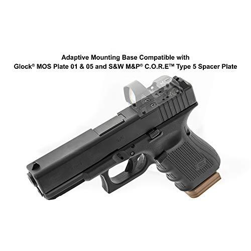 UTG Rifle Scope 7 UTG Reflex Micro Dot, Red 4 MOA Single Dot, Adaptive Base, Black