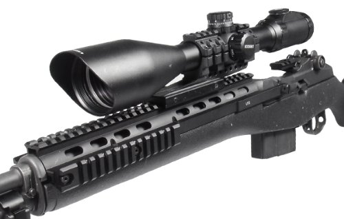 UTG Rifle Scope 4 LP UTG 30mm 4-16X56 36 Color/IE Scope, SWAT AO, Etched Mil-dot, EZ-TAP, RG2W3224 Rings
