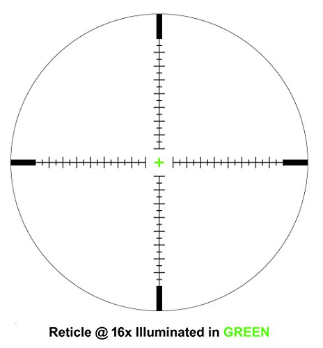 Hammers Rifle Scope 5 Hammers 1inch Tube 4-16x40 Side Focus 1st First Focal Plane FFP Range Finding Jumbo Wheel Side Focus Rifle Scope with Green Red Illuminated Range Etched Glass Reticle