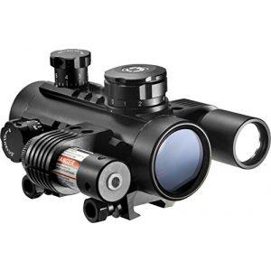 BARSKA Rifle Scope 1 1x30 Electro Red Dot Sight with Flashlight & Laser