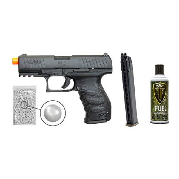 Wearable4U Airsoft Pistol 1 Wearable4U Walther PPQ Mod 2 Gas Blowback Airsoft Pistol with Elite Force Airsoft Green Gas Can and Extra Extended Mag Pack of 1000 6mm 0.20g BBS Bundle