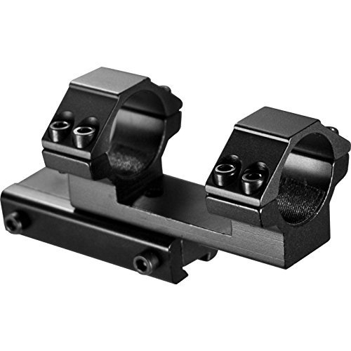 """Ultimate Arms Gear Rifle Scope Mount 2 Ultimate Arms Gear 1"""" Inch Tube Aluminum Flat Top Base One Piece Cantilever Dual Double Gun Scope Ring Offset 3/8"""" Dovetail Mount, For Red Dot Sights, Optics, Airsoft Air Gun Paintball"""