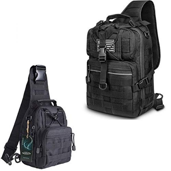 G4Free Tactical Backpack 2 G4Free Tactical Sling bag and Big version Sling Backpack for Concealed Carry
