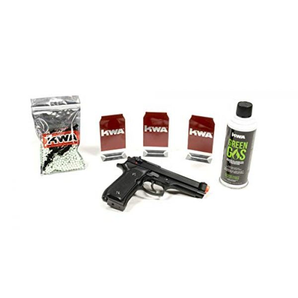 KWA Airsoft Pistol 1 KWA at-Home Self-Defense Training Kit M9 with 1000rd BBS Complete Kit (12-Pack of Targets)