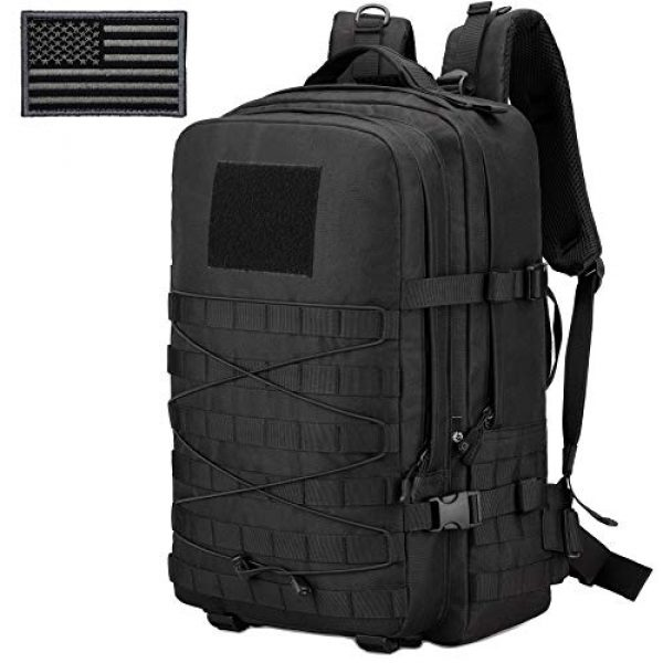 ArcEnCiel Tactical Backpack 1 ArcEnCiel Tactical Backpack Military Army 3 Day Assault Rucksack Pack 45L Molle Pack with Patch - Rain Cover Included