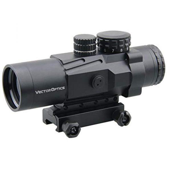 Vector Optics Rifle Scope 2 Vector Optics Calypos 3x32mm, 1/2 MOA, Red Illuminated BDC Reticel, Second Focal Plane (SFP) Compact Tactical Prism Riflescope