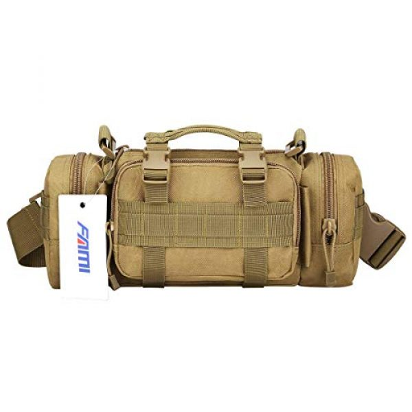 FAMI Tactical Backpack 1 FAMI Fanny 3P Military Tactical Pouch Backpack Range Bags Molle attachments Pouch Small EDC Sling Pack Hand Carry Bag