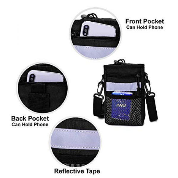BraveHawk OUTDOORS Tactical Backpack 3 BraveHawk OUTDOORS Shoulder Messenger Bag Bottle Holder Pouch, 800D Military Nylon Oxford EDC Phone Holder Small Crossbody Pack